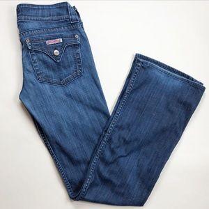 Hudson bootcut jeans in medium dark wash. Size 29